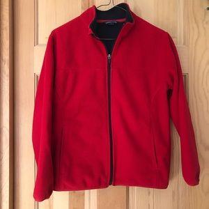 Land's End unisex full-zip collared fleece jacket